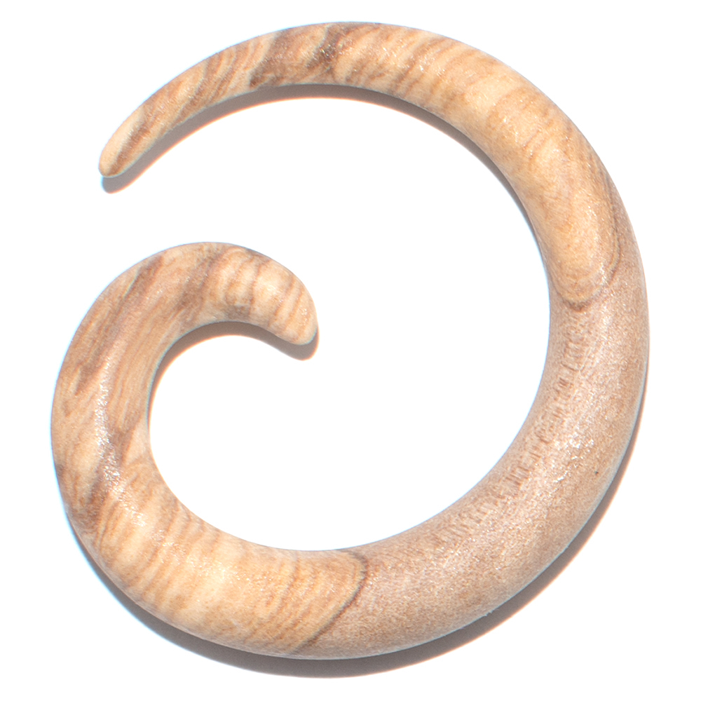 Stretcher snail made of olive wood (6 mm)