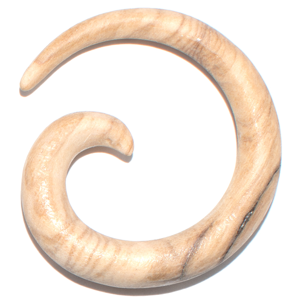 Stretcher snail made of olive wood (6 mm) 3