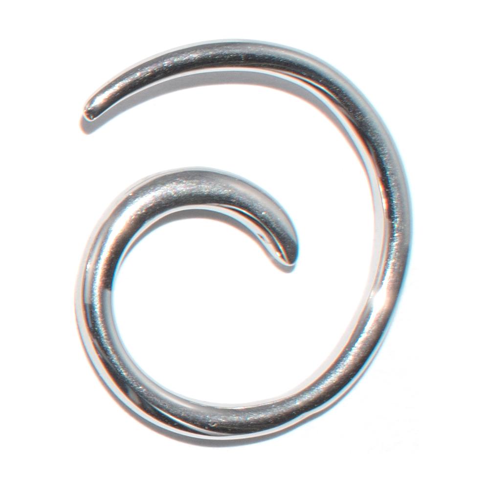 Dehnungsschnecke aus Chirurgenstahl (2 mm)