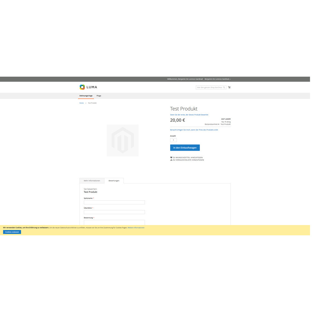 German Language Pack for Magento 2 3