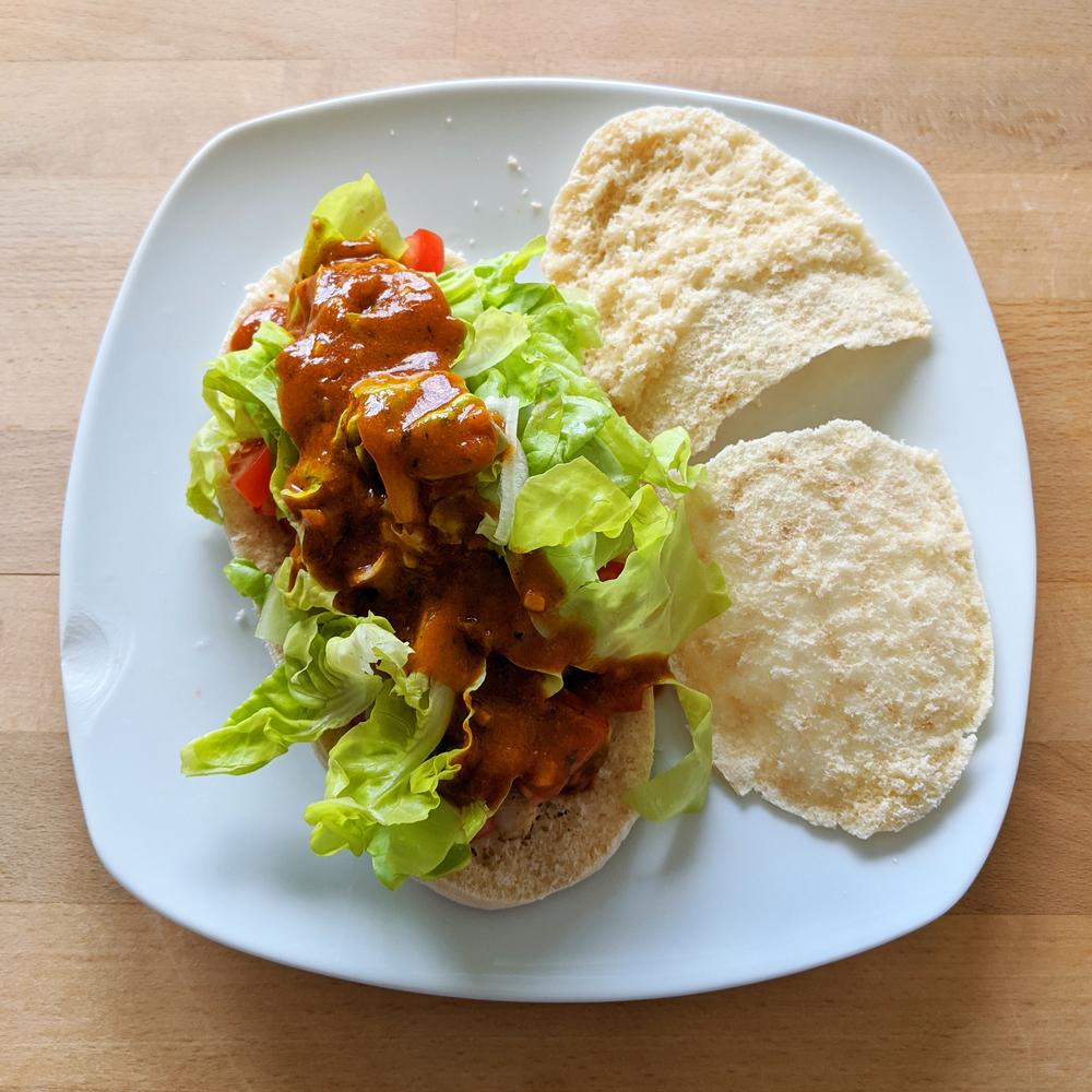 Hähnchen-Wrap mit DIY Sauce 1