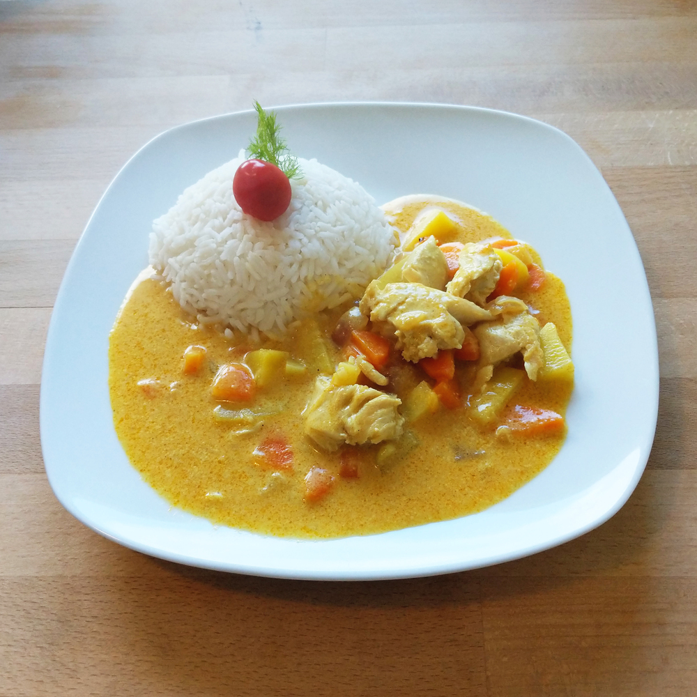 Chicken curry with rice 1