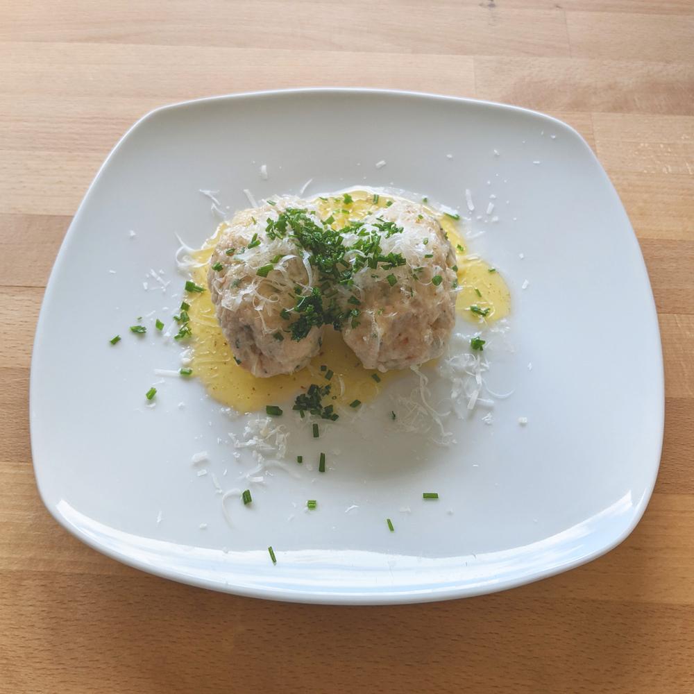 South Tyrolean bacon dumplings, cheese dumplings or fasting dumplings 3